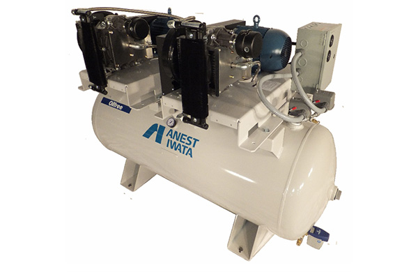 Anest Iwata Oil-less Tank  Mount Duplex Scroll Compressor