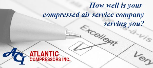 Is your compressed air system service company providing excellent service?